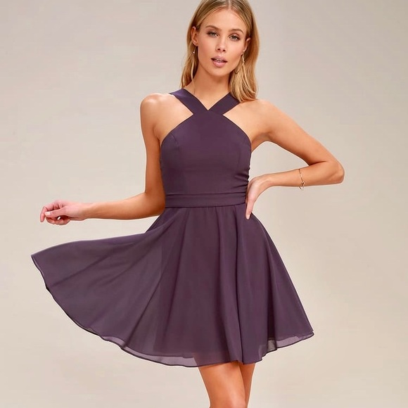 "Lulu's Dresses & Skirts - NWT Lulu's ""Perfect Dance"" Halter Skater Dress"